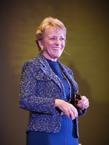 Photo of Mary Morrissey speaking at a Coach Training Event