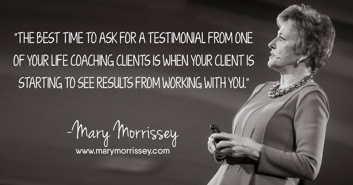 generate testimonials from clients